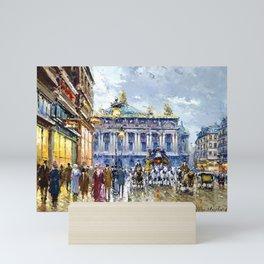 Avenue de l'Opera, Paris, France Landscape by Antone Blanchard Mini Art Print