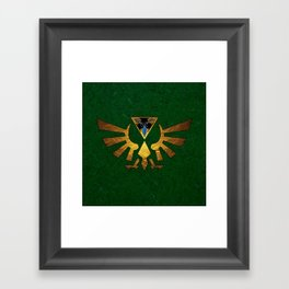 Tri Force of Zelda Framed Art Print