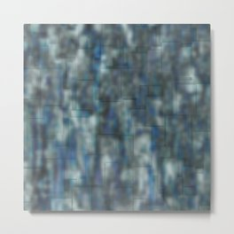 Abstract blue bluring pattern Metal Print