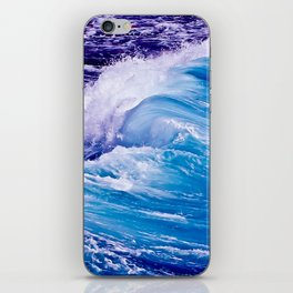 Blue Wave iPhone Skin