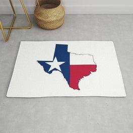 Texas Map Outline and Flag Rug