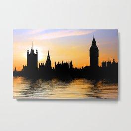 Westminster Skyline, London Metal Print