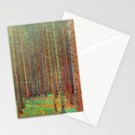 """Fir Forest"" by Gustaf Klimt Stationery Cards"