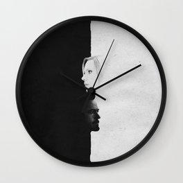 Tony & Nat | Split Wall Clock