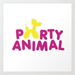 Party Animal Art Print