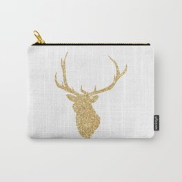 Golden Deer Head Red Background Carry-All Pouch