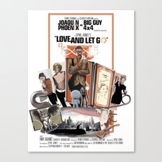 Love and Let Go - Movie poster mash-up Canvas Print