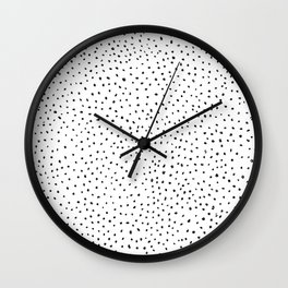 Dotted White & Black Wall Clock