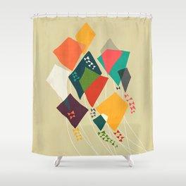 Whimsical kites Shower Curtain