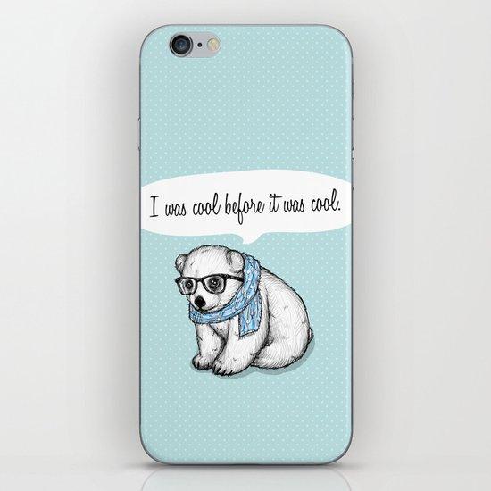 Hipster polarbear iPhone & iPod Skin