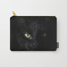 Black cat   Witchy cat   Green eyes   Cat love   Happy halloween Carry-All Pouch