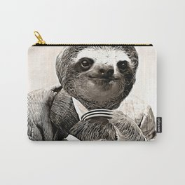 Gentleman Sloth in Smart Posture Carry-All Pouch