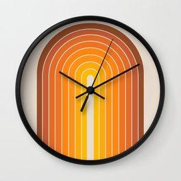Gradient Arch - Vintage Orange Wall Clock