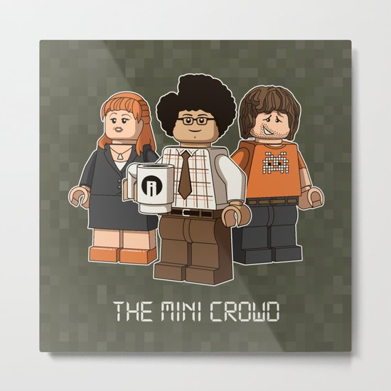 The Mini Crowd Metal Print