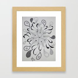 Drops and Star Framed Art Print