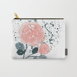 Japan inspired Blushing Rose Carry-All Pouch