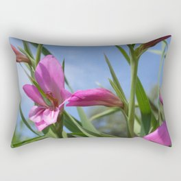 Pink Flowers - Field Gladiolus Rectangular Pillow