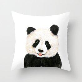 naughty little panda Throw Pillow