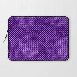 Purple Wire Mesh Pattern Laptop Sleeve