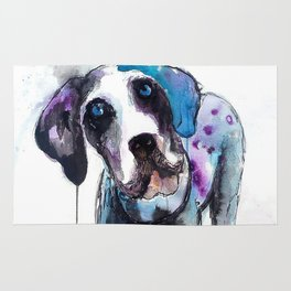 Great Dane Drip Picture Rug