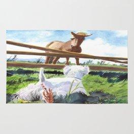 Horse & Terrier Rug