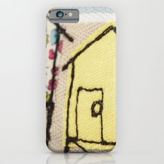Embroidered Beach huts iPhone 6s Slim Case