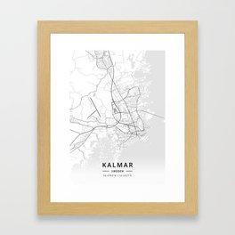 Kalmar, Sweden - Light Map Framed Art Print