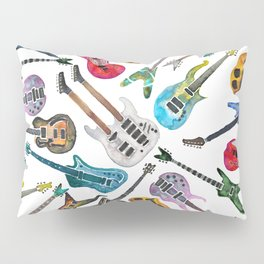 Electric Guitars Watercolor Pillow Sham