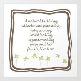 Natural Momma Art Print
