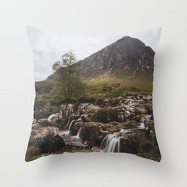 Famous Etive Mor - Landscape and Nature Photography Throw Pillow