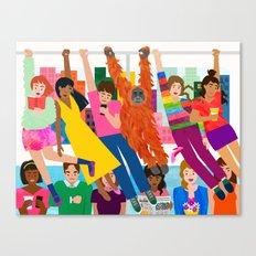 Straphangers Canvas Print