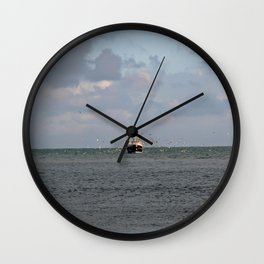 Boat, Looe Cornwall Wall Clock