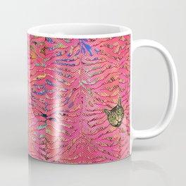 coral tiger love Coffee Mug