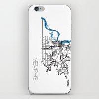 memphis iPhone & iPod Skins featuring Memphis by linnydrez