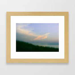 Poetic Evening at the Beach Framed Art Print