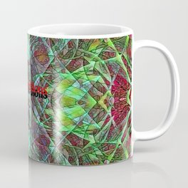 Red Green Stained Glass Multicolor Pattern  Coffee Mug