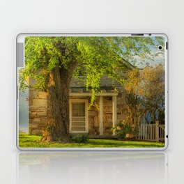The Stone Cottage On A Spring Evening Laptop & iPad Skin