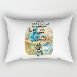 Alice In Wonderland Quote Rectangular Pillow