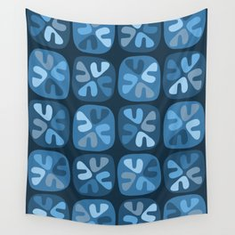 blue boomerangs Wall Tapestry