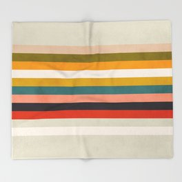 modern abstract stripe geometric Throw Blanket