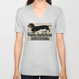 1905 German Dog Show Dachshund Poster Unisex V-Neck