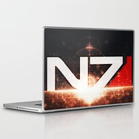 mass effect Laptop & iPad Skins featuring Mass Effect N7 by Anthony.Ch