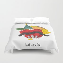 Death in the city Duvet Cover