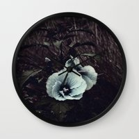 hibiscus Wall Clocks featuring Hibiscus by KunstFabrik_StaticMovement Manu Jobst