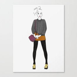 Pilled (grey) Sweater Canvas Print