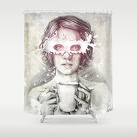 milk Shower Curtains featuring Milk by Anna Sun