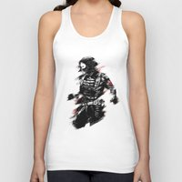 winter soldier Tank Tops featuring The Winter Soldier by Ashqtara