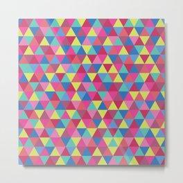 Geometric Triangles Metal Print