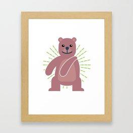 Trends Exercise Movement Flossing Gift Floss Dance Move Bear Framed Art Print
