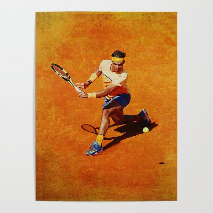 Rafael Nadal Sliced Backhand Poster